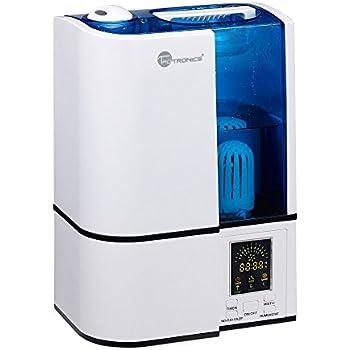 TaoTronics Humidificateur Ultrasonique d'Intérieur à Vaporisation Fraîche 4L (Mode Humidité Constant, Contrôle Niveau de Brume, Paramètres de Minuterie, Purificateur d'Eau Intégré, Veilleuse LED, Buse Rotative à 360 Degrés, Silencieux)