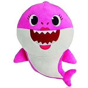 Baby Shark- Peluche Musical Mommy Shark, Color Rosa (Bandai SS92513)
