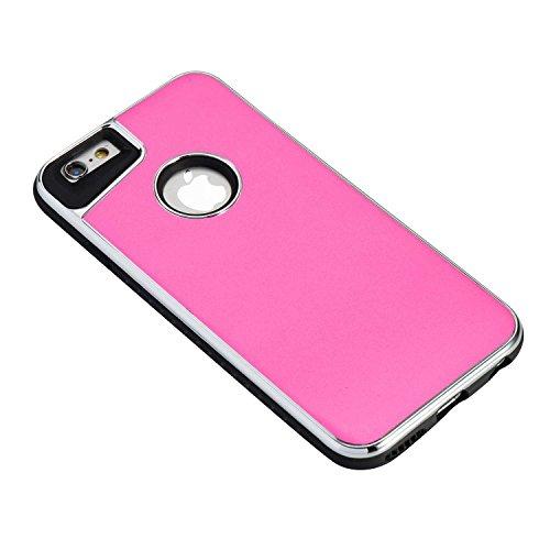 EKINHUI Case Cover Abnehmbarer Dual-Layer-Shockproof-Rückseiten-Gehäuse Flexibler TPU-Innenschutz und verstärkter PC-Abdeckungs-Fall für iPhone 6 u. 6s ( Color : Blue ) Rose