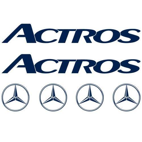 myrockshirt Mercedes ACTROS XL Aufkleber Sticker lastwagen Truck 6 Stücke ca.30cm Aufkleber Autoaufkleber Sticker Decal ohne Hintergrund UV&Waschanlagenfest