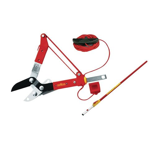 Firstly it is important to note that the lopper above is just a pruner and does not have a pruning saw included like other models of telescopic tree pruners. The saw can be purchased separately as an add-on product as shown below.