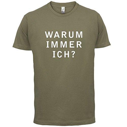 Warum immer ich - Herren T-Shirt - 13 Farben Khaki