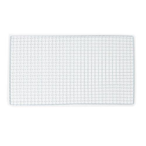 sourcingmap® 40cm x 25cm silber rechteckig viereckig Loch Bratrost Grillrost Grillgitter