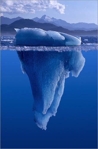 Poster 20 x 30 cm: Spitze des Eisbergs von John Hyde / Design Pics - hochwertiger Kunstdruck, neues Kunstposter