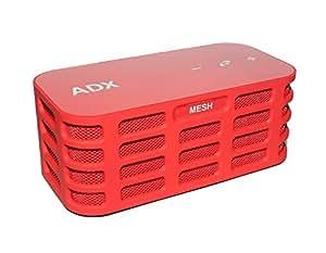 Haut-parleur stéréo Bluetooth Audio Dynamix® MESH2 - rouge- 12 h de lecture, portée Bluetooth de 15 m et basses accentuées
