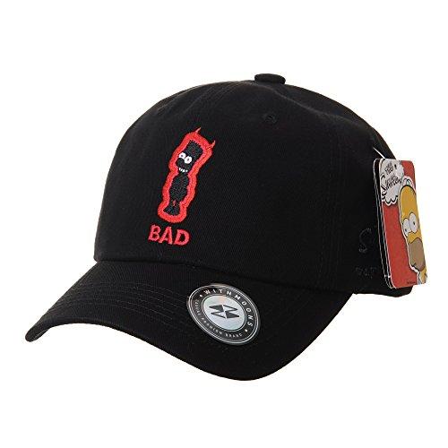 0481c82fbd3 WITHMOONS Baseballmütze Mützen Caps The Simpsons Ball Cap Bad Evil Bart  Simpson Embroidery HL1811 (Black