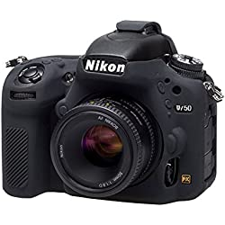 Easycover Silicone Armour Skin Coque de Protection pour Appareil Photo Nikon D750–Noir