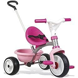 Triciclo Be move rosa con volquete y ruedas silenciosas (Smoby 740327)