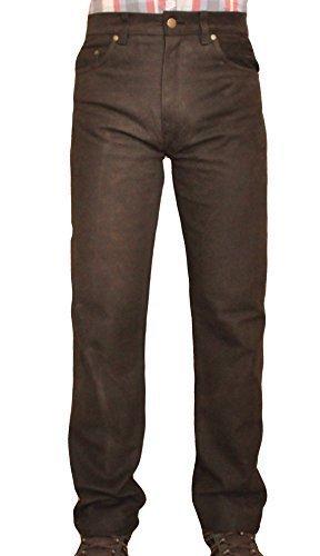 Shamzee Leather lang, 34 inch Braun