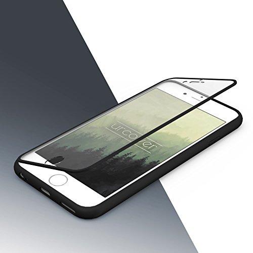 Urcover® Apple iPhone 6 Plus Touch Case Handy Schutz-Hülle [ Displayschutz ] Grün | Silikon TPU rundum | Slim Cover | Full Body View | Wallet Schale Schwarz