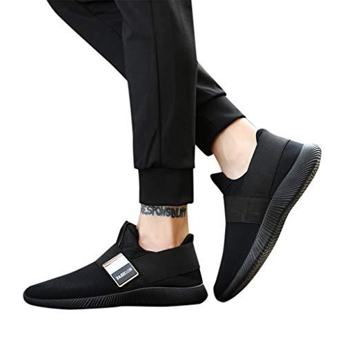 TianWlio Sportschuhe Herren Sneaker Outdoorschuhe Mode Männer Sneakers Freizeitschuhe Atmungsaktives Mesh Schuhe Student Laufschuhe Schwarz Rot Grau 39-46
