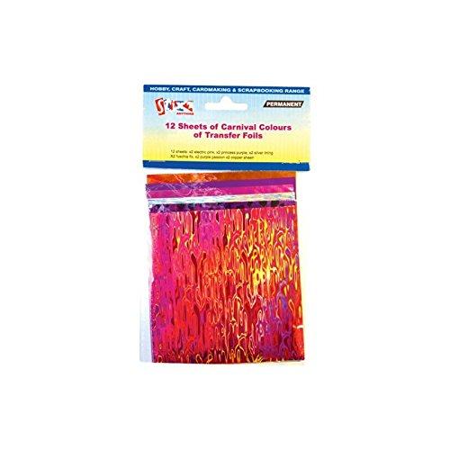 12-sheets-transfer-foils-carnival-colours-pink-purple-silver-fuschia-copper