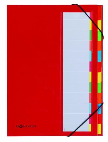 Pagna Deskorganizer Premium (Sammelmappe,  12 Fächer ) rot