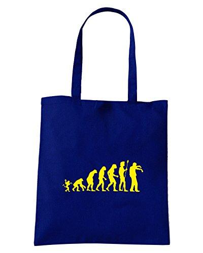 T-Shirtshock - Borsa Shopping OLDENG00328 evolution undead Blu Navy