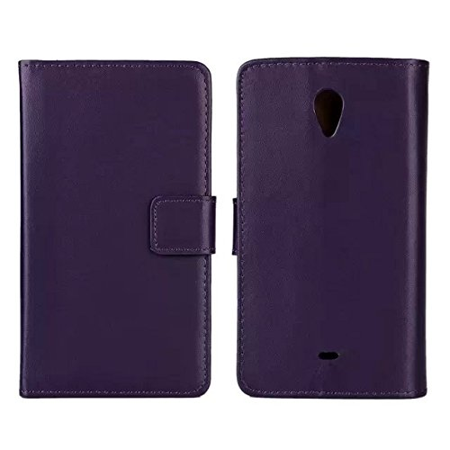 UKDANDANWEI Sony Xperia T Custodia - Premio PU Custodia Protettiva Portafoglio Flip Stand Case Cove per Sony Xperia T LT30p Porpora