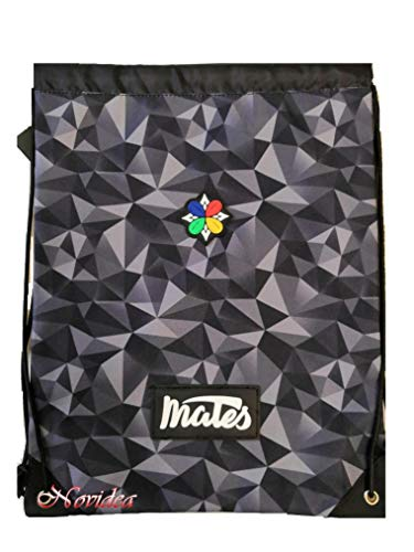 Zaino sacca mates nero borsa palestra tempo libero 42x31 cm
