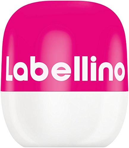 Labellino Lippenbalsam Pink Watermelon & Pomegranate im 3er Pack (3 x 7 g), aufregende Lippenpflege zum einfachen Auftragen, Lip Balm für samtweich gepflegte Lippen