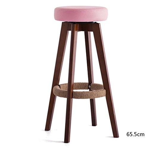 GJM Shop tabouret pivotant à 360 ° réglable en hau Woody Coussin Éponge Chaise De Bar Bobinage De Corde De Chanvre Fait À La Main Repose-pieds Chaise De Bar Ménage Bar Minimaliste Moderne Tabourets De Bar Faire Pivoter Tabouret Haut --- Sponge + Leatherette / surface de chaise en bo ( Couleur : 4 , taille : 45*45*65.5cm )