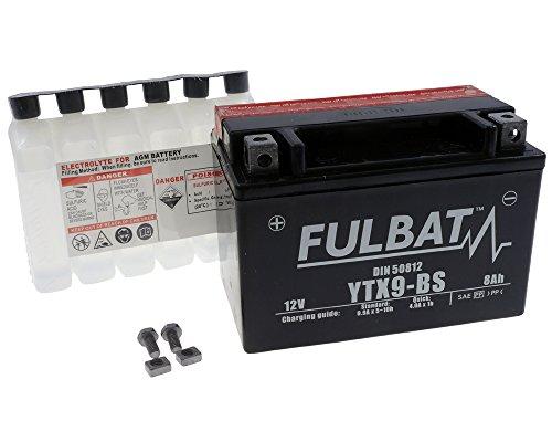 Batterie FULBAT YTX9-BS MF wartungsfrei für KAWASAKI EX250 Ninja 250R 250 ccm Baujahr 09-13[ inkl.7.50 EUR Batteriepfand ] (250r 09 Ninja Kawasaki)