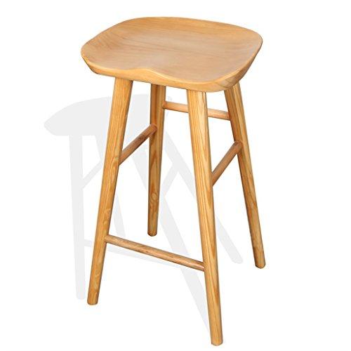 GAOYANG Alle Massivholz Barhocker Front Desk Stuhl Hause Hochstuhl Hocker (größe : M) (Front Massivholz)