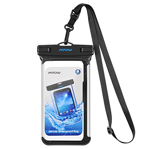 Mpow IPX8 Wasserdichte Handyhülle, Einteilige Universale Trockentasche iPhone X/XR/ XS MAX Handytasche, Volltransparente Wasserfeste Hülle für iPhone X / 8/8 Plus / 7/7 Plus, Samsung Galaxy S9 / S8 / Note 8, Google Pixel / Pixel Plus, HTC