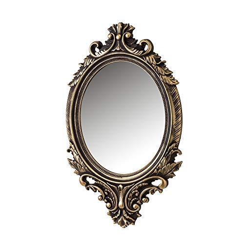 Lola Home 122433 Espejo Cornucopia Dorado de PVC clásico para la Entrada de 54 x 33 cm Bretaña, 54x33 cm