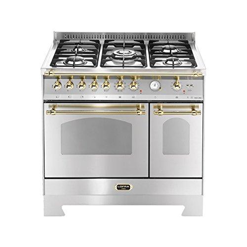 Lofra RSD96MFTE/CI - Cocina (Cocina familiar tipo industrial, Acero inoxidable, Giratorio, Frente,...