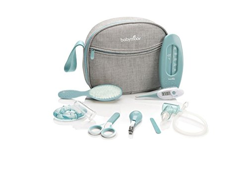 BABYMOOV Baby Healthcare and Grooming Set, Grey/Aqua