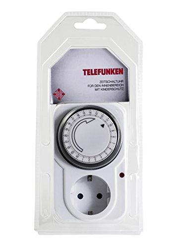 Preisvergleich Produktbild Telefunken EST1M Mechanische Zeitschaltuhr für den Innenbereich (mit Kinderschutz)