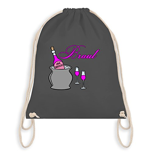 Jga Bachelor Party - Bridal Champagne Party - Borsa Da Palestra I Gym Bag Grigio Scuro