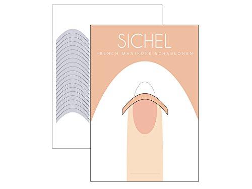 (51 x FRENCH Maniküre SCHABLONE Sichel - French Nail - French Nagel-Sticker - French Linie - Smile Line)