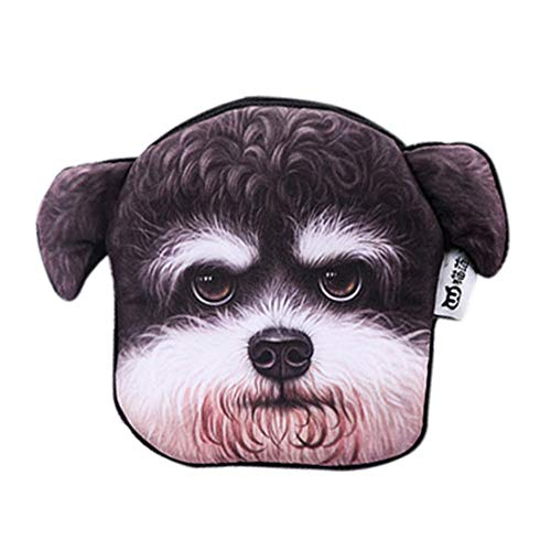 Xshuai® Fashion Cute Fan Dog Head Zero Wallet 3D Printing Coin Purse Bag Key Bag Cartoon Girl Wallet