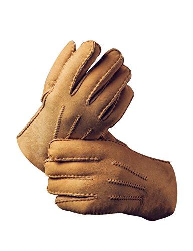 YISEVEN Herren Winter Handschuhe aus echtem Schaffell Leder handschuhe mit warm gefüttert-Medium