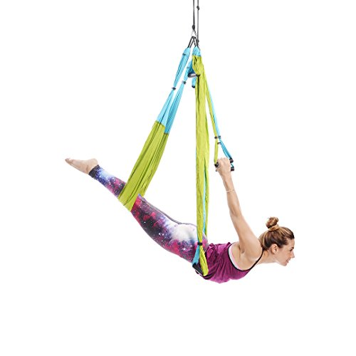 Yoga Trapeze [Official]-Yoga Swing/Sling/Inversion Werkzeug, Blau/Grün von yogabody-mit Gratis DVD
