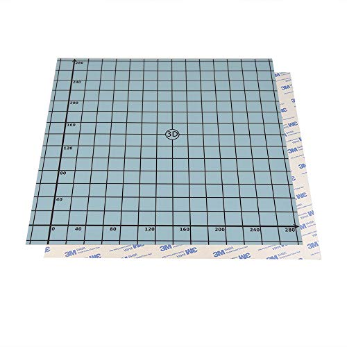 SOOWAY 310x310mm Flex Magnetic Zweischicht Drucken Hot Bed Aufkleber Bauen Oberfläche Band für 3D Drucker Build-Plattform Beheizte Bett Kompatibel mit Creality CR-10S CR-10 Anet E12 (blau)