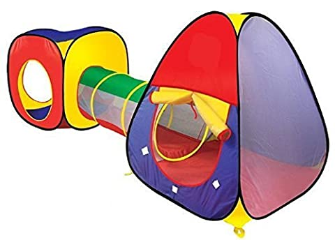 Adventure 3 Piece Indoor & Outdoor Childrens Playhouse Ball Pit Play Shuttle Tunnel & Tent