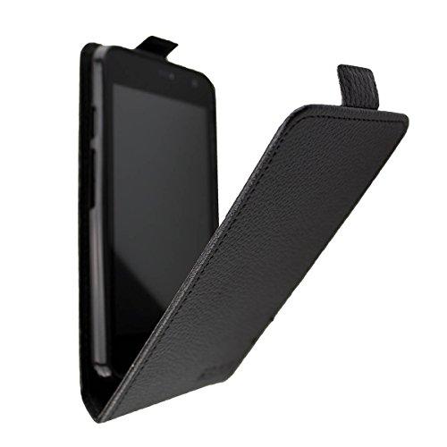 caseroxx Hülle/Tasche Flip Cover passend für Archos Access 45 4G, Schutzhülle (Handytasche klappbar in schwarz)