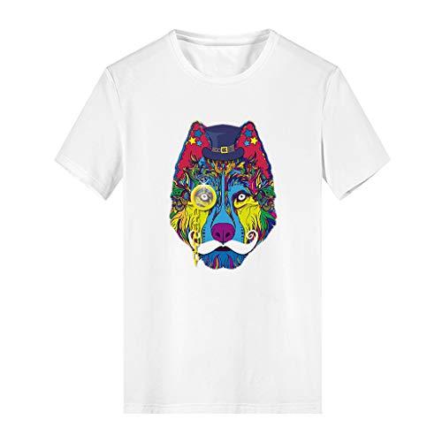 DOLLAYOU Sommer-Mädchen-T-Shirt mit Rundhalsausschnitt, Kurze Ärmel, Modal, Baumwolle, Urlaub, Strand, schönes T-Shirt Gr. S, weiß