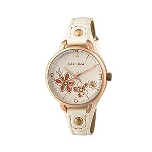 Kahuna–Reloj de Cuarzo para Mujer con Correa de PU Color Blanco Esfera