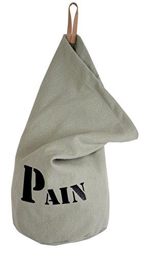 """Bolsa de pan 'Petate de creación francesa H37x 28cm (tela 100% algodón de color gris """""""