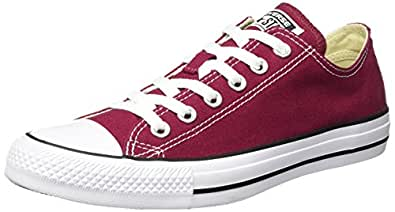 Converse Chuck Taylor All Star, Sneakers Unisex, Rosso (Bordeaux), 35 EU