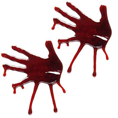 Halloween-Deko Blutige Hände 2 Stk. - Die Gruselige -