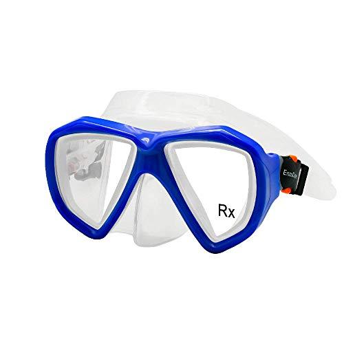 EnzoDate Optische Schnorchelmaske Taucherbrille Bifocal Near Far Sight Myopia Gehärtetes Glas