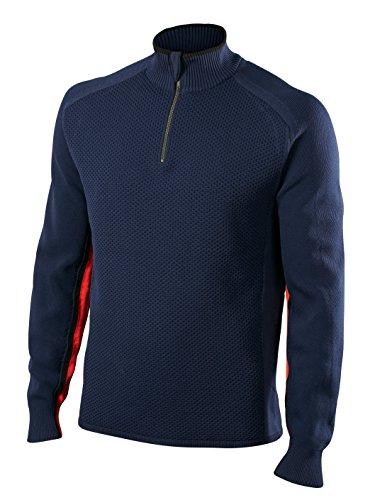 FALKE Herren Skipullover Zip Pullover Men, Dark Night, XL, 36461