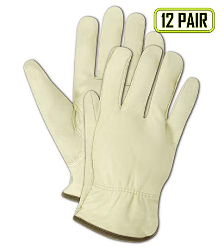 Magid tb550e Roadmaster ungefüttert genarbtem Leder Treiber Handschuh mit Keystone Daumen, Arbeit, Größe XL, tan (eine Dutzend) - Treiber Keystone