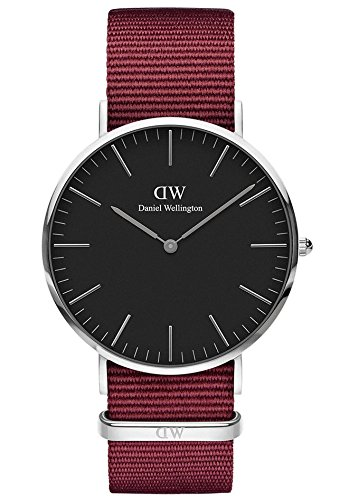 Daniel Wellington Unisex Adult Analogue Quartz Watch with Nylon Strap DW00100270