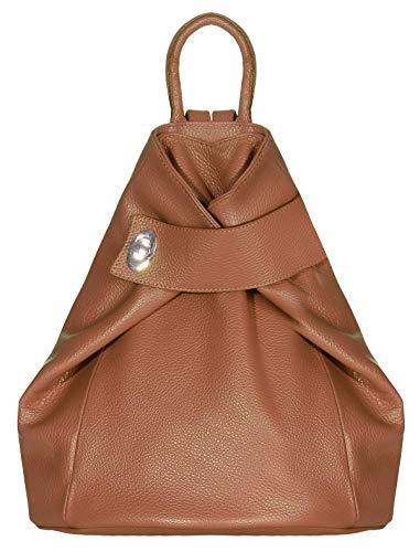 malito Mujeres Mochila Bolsa Colores de Moda Cuero Bolso de Bandolera R400 (marrón)