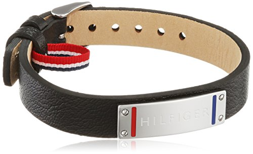 Tommy Hilfiger Herren-Armband Edelstahl Leder 22 cm-2700679