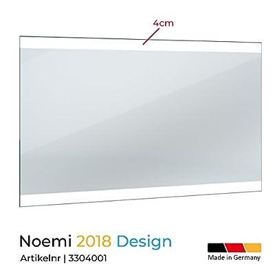 Spiegel ID dein.Spiegel.online Noemi 2018 Design: LED BADSPIEGEL mit Beleuchtung - Made in Germany - Individuell Nach Maß - Verschiedene Größen auswählbar