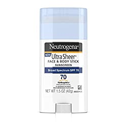 Neutrogena Sunscreen Ultra Sheer Stick SPF 70, 1.5 Ounce